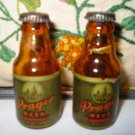 Prager Beer Atlas Salt And Pepper Shakers Vintage
