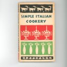 Simple Italian Cookery Cookbook Vintage Peter Pauper Press