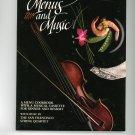 Menus And Music Cookbook 0961515007