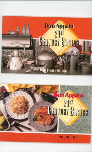 Lot Bon Appetit 21st Century Basics Cookbook Volume 1 & Volume Two