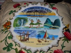 The Hawaiian Islands Souvenir Plate