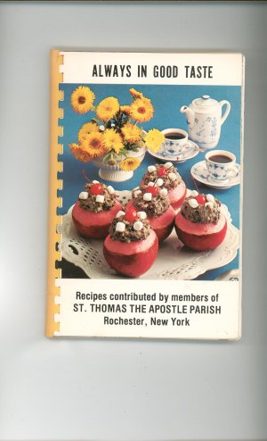 Always In Good Taste Cookbook Regional Church New York St Thomas The Apostle Vintage