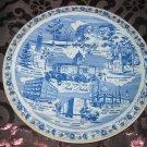 South Dakota Coyote State Souvenir Collector Plate Blue by Vernon Kilns Vintage