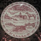 Kentucky Blue Grass State Souvenir Collector Plate  by Vernon Kilns Vintage