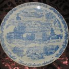New Hampshire Granite State Souvenir Blue Collector Plate  by Vernon Kilns Vintage