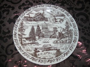 Idaho  Souvenir Collector Plate  by Vernon Kilns Vintage