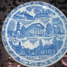 Virginia Old Dominion Souvenir Collector Plate Blue by Vernon Kilns Vintage