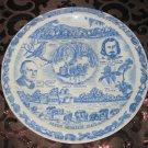 Vermont Freeman's Oath 1777 Souvenir Collector Plate Blue by Vernon Kilns Vintage