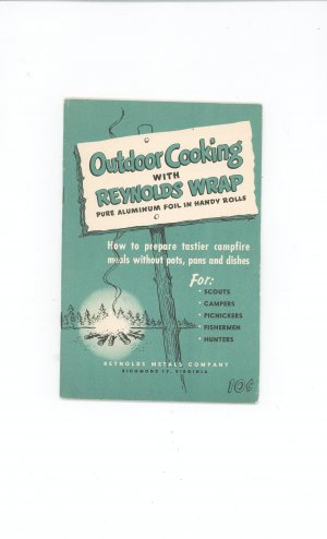Outdoor Cooking With Reynolds Wrap Cookbook Guide Vintage Item