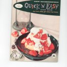 Good Housekeepings Quick N Easy Cookbook Vintage