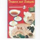 Tempura And Sukiyaki Japanese Cookbook Vintage 0870401343
