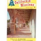 All 21 California Missions In Full Color Brochure Guide Souvenir