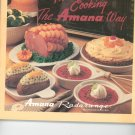Microwave Cooking The Amana Way Cookbook / Manual