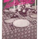 Tablecloths Book No. 231 Crochet  Clarks J&P Coats Vintage