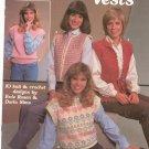 Leisure Arts Women's Vests # 295 Knit & Crochet Evie Rosen Darla Sims