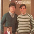 Leisure Arts Knitted Raglans For Men  # 265 Marion Graham