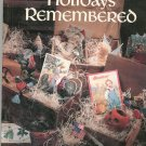 Holidays Remembered  Cross Stitch Leisure Art Book Five 094223720x