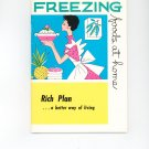 Freezing Foods At Home Guide by Rich Plan Vintage