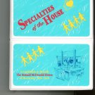 Specialties Of The House Cookbook Regional Ronald McDonald House 0964795507