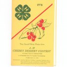 Very Special Cherry Recipes from 4 H Cherrry Dessert Contest Cookbook Regional New York