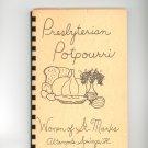 Presbyterian Potpourri Cookbook Regional St. Marks Church Florida