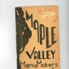 Maple Valley Menu Makers Cookbook Regional New York Eastern Star Vintage