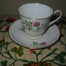 Cup And Saucer Pink Flower With Gold Trim 1567 Made In England