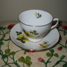 Cup And Saucer Yellow And White Flowers With Gold Trim Royal Vale 8221 Made In England