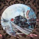 By Sea Or Rail Collector Plate Winter Rails Hamilton Train Ted Xaras