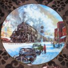 Coal Country Collector Plate Winter Rails Hamilton Train Ted Xaras