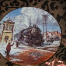 Darby Crossing Collector Plate Winter Rails Hamilton Train Ted Xaras