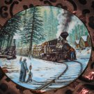 Timber Line Collector Plate Winter Rails Hamilton Train Ted Xaras
