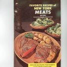 Favorite Recipes of New York Meats Cookbook Regional Womens Club Leaders