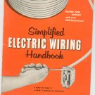 Simplified Electric Wiring Handbook Vintage by Sears Roebuck F5428
