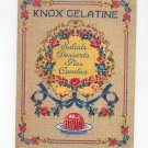 Knox Gelatine Salads Desserts Pies Candies Cookbook Vintage