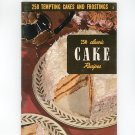 250 Tempting Cakes And Frostings #3 Cookbook Vintage Culinary Arts Institute