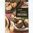 250 Ways Of Serving Potatoes #13 Cookbook Vintage Culinary Arts Institute