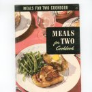 Meals For Two Cookbook #21 Vintage Culinary Arts Institute