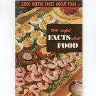2000 Useful Facts About Food #23 Reference / Guide Vintage Culinary Arts Institute