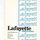 Lafayette COM PHONE 23A CB Transceiver Owners Manual With PC Board Chart Vintage Com-Phone 23A