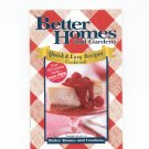 Better Homes And Gardens Quick & Easy Recipes Cookbook