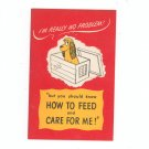How To Feed And Care For Me by Ken L Ration Vintage Dog
