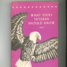What Every Veteran Should Know 1975 Vintage Veterans Benifits Guide / Manual