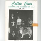 Collie Cues & Shetland Sheepdog News April 1968 Vintage