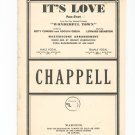 Its Love From Wonderful Town Chappell & Schirmer Vintage Sheet Music It's