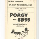 lt Aint Necessarily So Porgy And Bess Gershwin Publishing Vintage Sheet Music