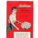 Sunbeam Controlled Heat Automatic Frypan Cookbook Model RM & RL Manual Vintage