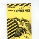 Cliffs Notes Knowles A Separate Peace 0822011832