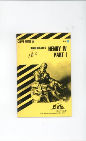 Cliffs Notes Shakespears Henry IV Part 1 I 0822000237