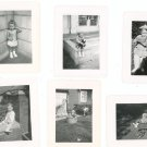 Vintage Photograph Lot Of 6 Assorted Wash Tub Stroller Corner  Plus B&W